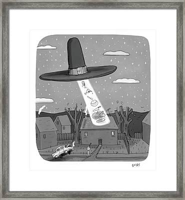 Thanksgiving Aliens Framed Print