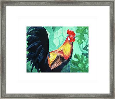 That Rooster Framed Print
