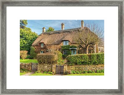 Thatched Cottage In Chipping Campden, Gloucestershire Framed Print by David Ross