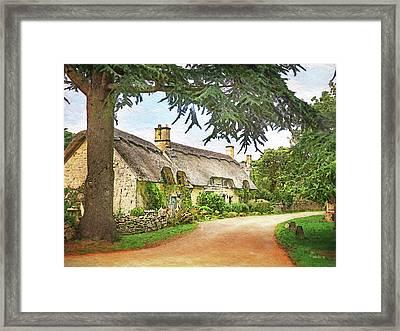 Thatched Roof Lane2 Framed Print by Joe Winkler