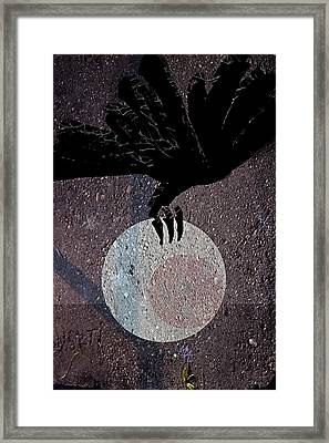 Framed Print featuring the digital art The Abduction Of The Moon by Attila Meszlenyi