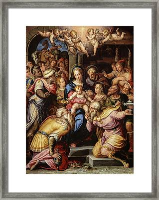 The Adoration Of The Magi, 1567 Framed Print