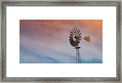 Framed Print featuring the photograph The Aermotor Chicago Co. By Mike-hope by Michael Hope