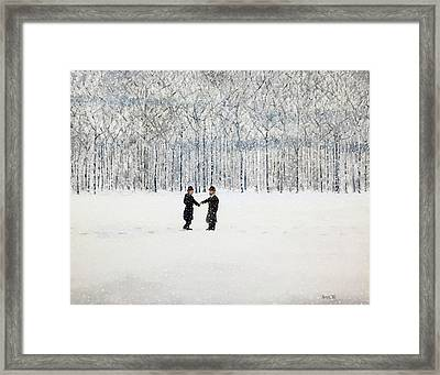 The Agreement Framed Print