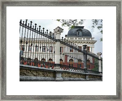 The Back Of The Ministry Of Agriculture Building In Madrid Framed Print
