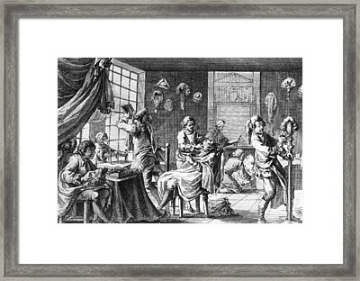 The Barber Framed Print by Hulton Archive