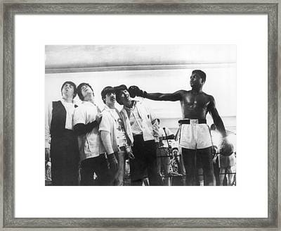 The Beatles And Muhammad Ali In 1964 Framed Print
