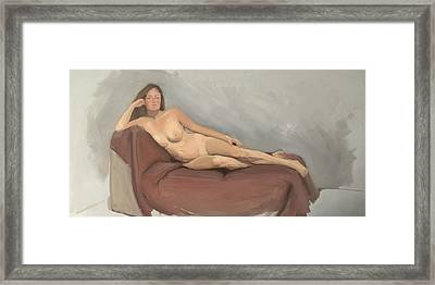 The Big Recline Framed Print