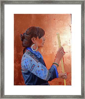 The Black Hmong Princess Framed Print