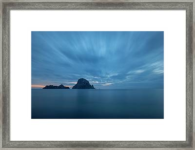 The Blue Hour In Es Vedra, Ibiza Framed Print
