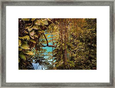 The Blue Lagoon Framed Print