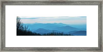 Framed Print featuring the photograph The Blue Ridge Mountains by Mark Duehmig