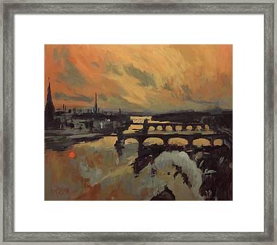 The Bridges Of Maastricht Framed Print