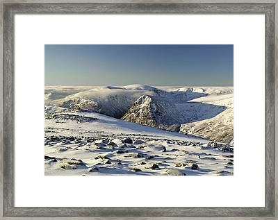 The Cairngorms In Winter Framed Print by Duncan Shaw