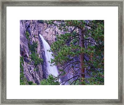 The Cascades From Yosemite National Framed Print by Tim Fitzharris/ Minden Pictures