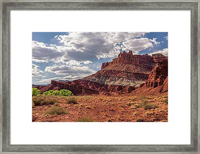The Castle At Mummy Cliffs Framed Print