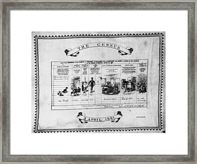 The Census Framed Print by Topical Press Agency