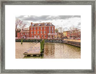 Framed Print featuring the photograph The Central Hotel - Delaware City by Kristia Adams