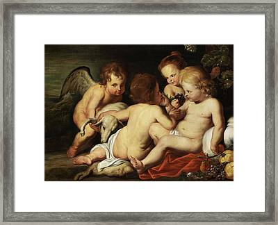 The Christ Child With Putti Framed Print