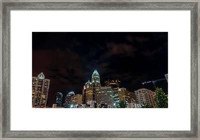 The City Lights Up Framed Print