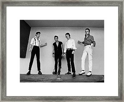 The Clash Portrait Session Framed Print by George Rose
