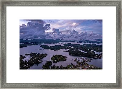 Framed Print featuring the photograph The Clouds At Penol by Francisco Gomez