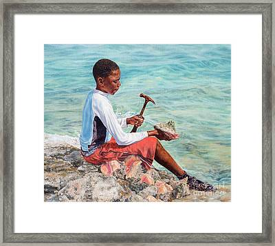 The Conch Boy Framed Print