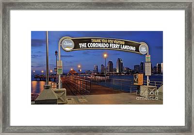 The Coronado Ferry Landing Framed Print