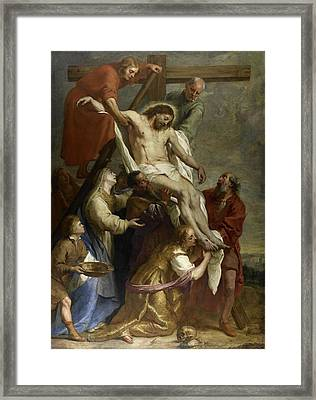 The Descent From The Cross Framed Print