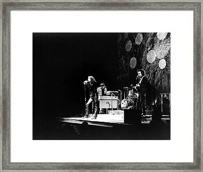 The Doors At The Fillmore East Framed Print by Fred W. McDarrah