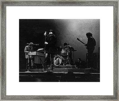 The Doors At The Filmore East Framed Print by Fred W. McDarrah