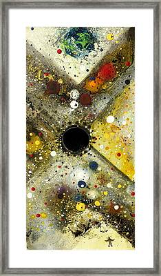 Framed Print featuring the painting The Escape Artist by 'REA' Gallery