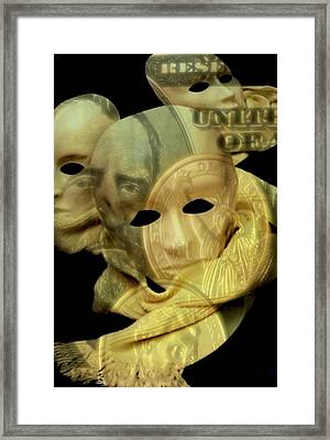 The Face Of Greed Framed Print