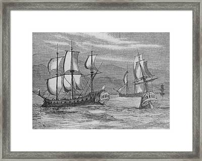 The First Fleet Framed Print by Hulton Archive