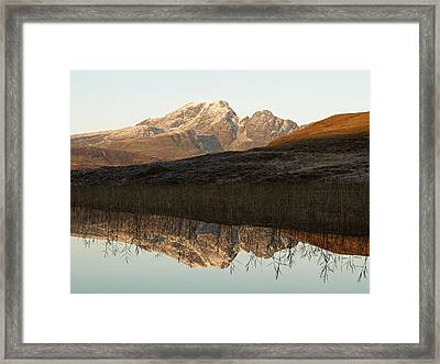 Framed Print featuring the photograph The First Hint Of Winter At Loch Cill Chriosd by Stephen Taylor