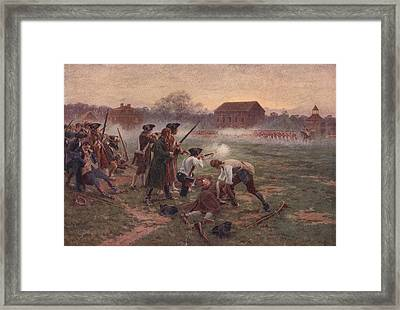 The First Shots Framed Print by Hulton Archive