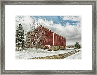 Framed Print featuring the photograph The First Snow by Kim Hojnacki