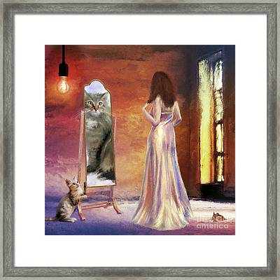 The Fitting Room Framed Print by Anne Vis