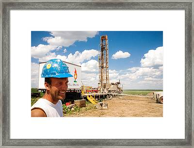 Framed Print featuring the photograph The Gas Man by Carl Young