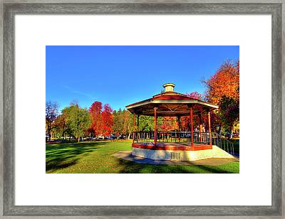 Framed Print featuring the photograph The Gazebo At Reaney Park by David Patterson