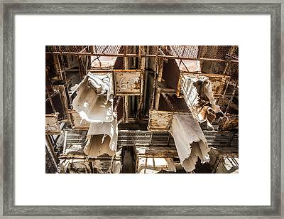 The Ghost Of Factories Past Framed Print