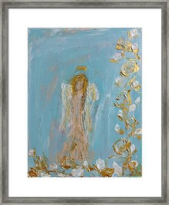 The Golden Child Angel Framed Print