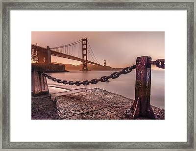 Framed Print featuring the photograph The Golden Gate by Francisco Gomez