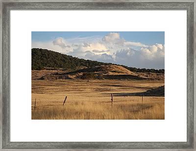 The Golden Hour In Utah Framed Print