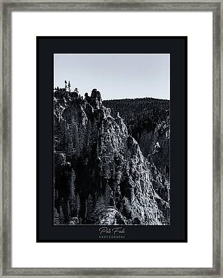 Framed Print featuring the photograph The Grand Canyon Of The Yellowstone by Pete Federico