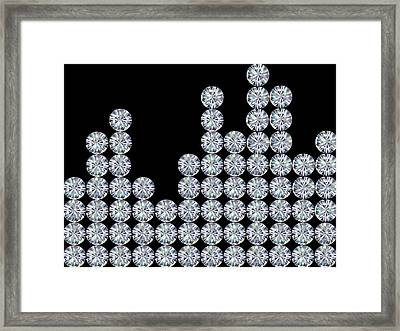 The Graph Of Diamonds Framed Print by Level1studio