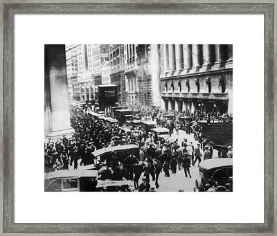 The Great Crash Framed Print by Hulton Archive