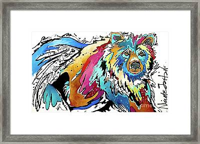 The Grizzly Details Framed Print