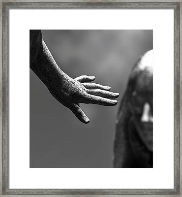 Framed Print featuring the photograph The Hand by Rand