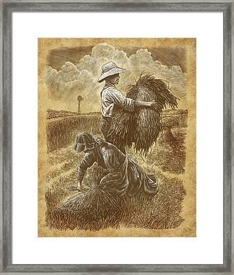 The Harvesters Framed Print